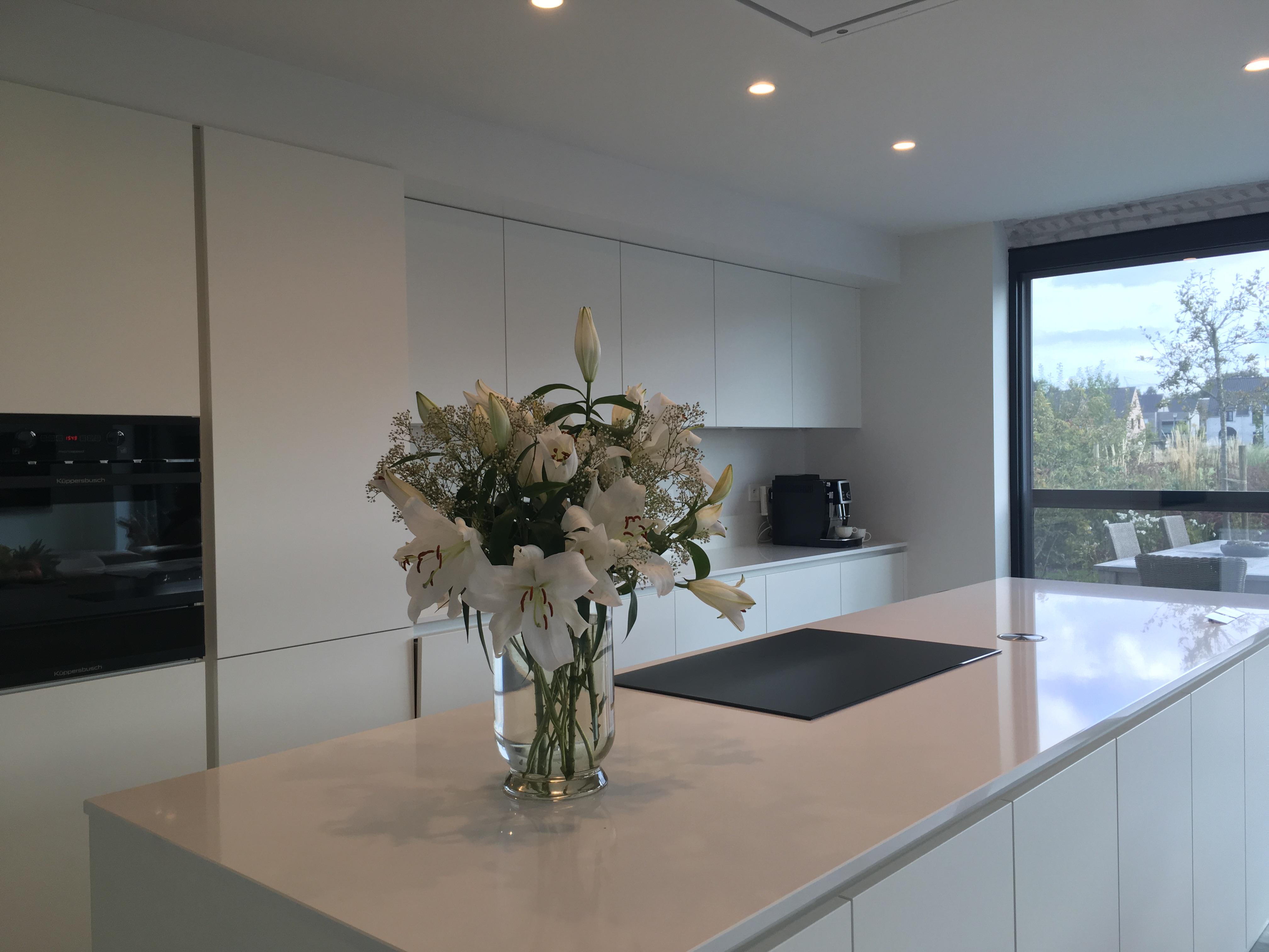 Zomergem architect nieuwbouw interieur keuken licht