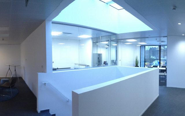 Sint-Martens-Latem verbouwing uitbreiding kantoorgebouw architect interieur